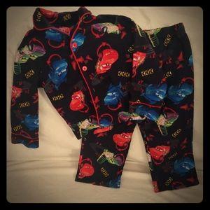 Boys Cars Pajama Set